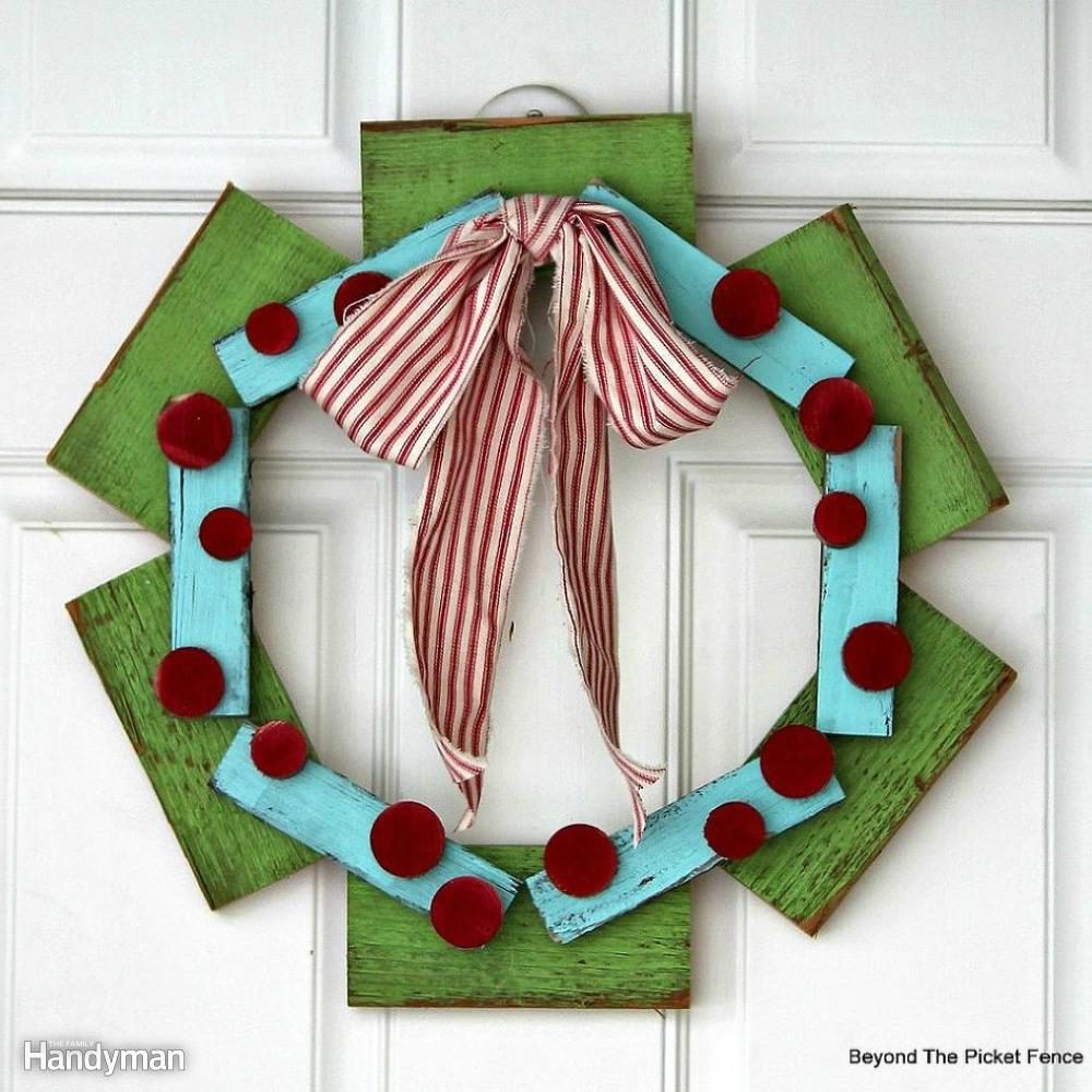 Scrap Wood Wreath