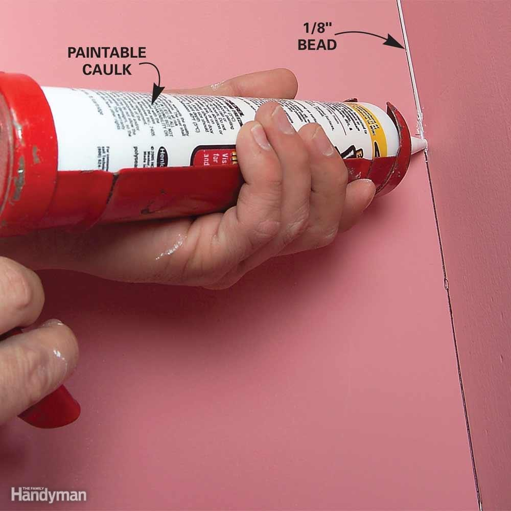 Caulk Cracks at Inside Corners