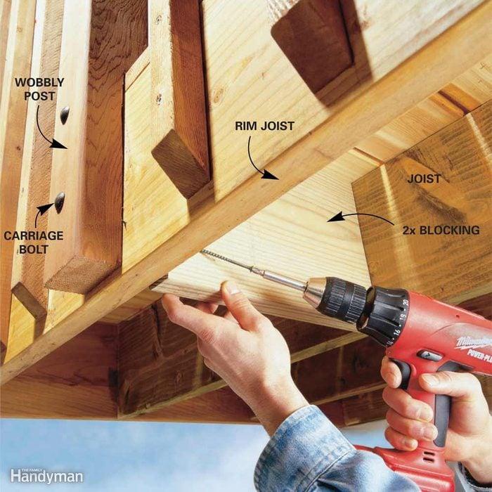 Stiffen Wobbly Deck Railings