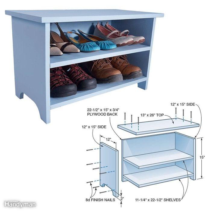 Shoe Storage Booster Stool