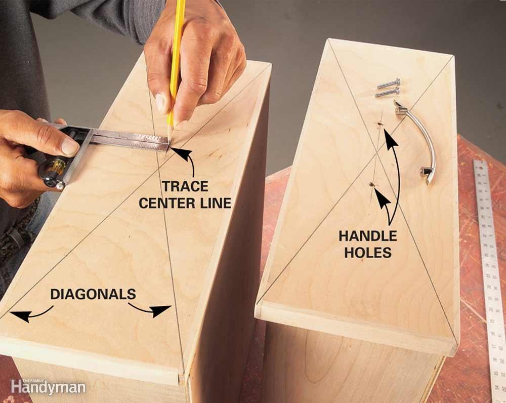 Dead-Center Drawer Handles