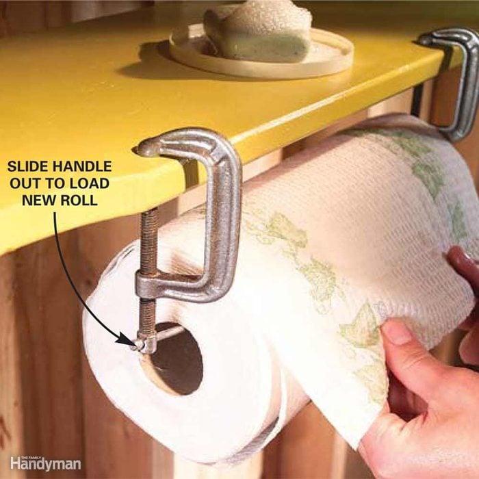 C-Clamp Paper Towel Rack