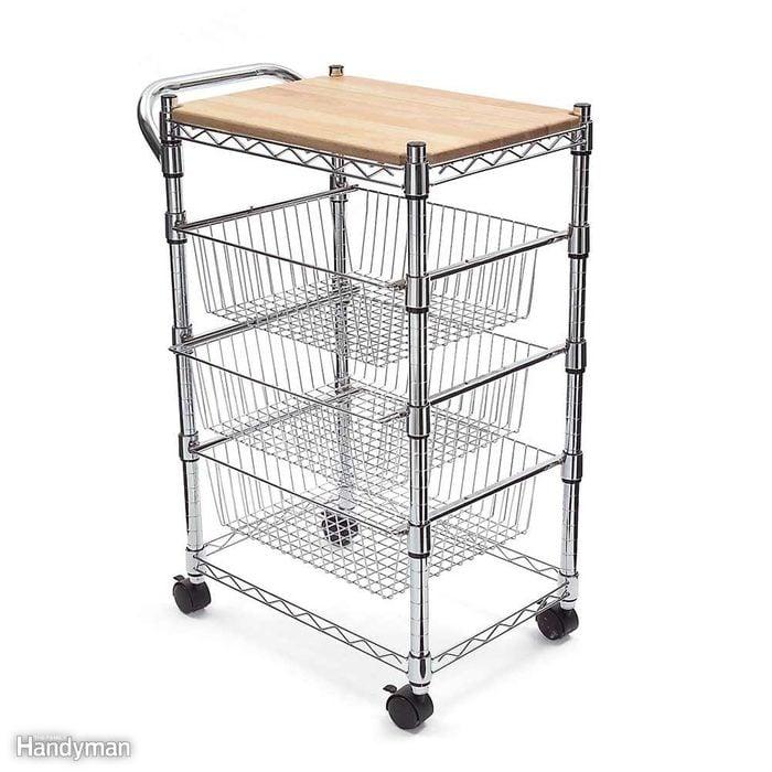 Mobile Kitchen Storage and Organization Cart