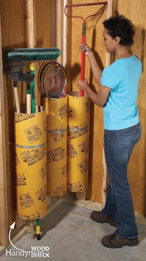 Garage Storage Tubes
