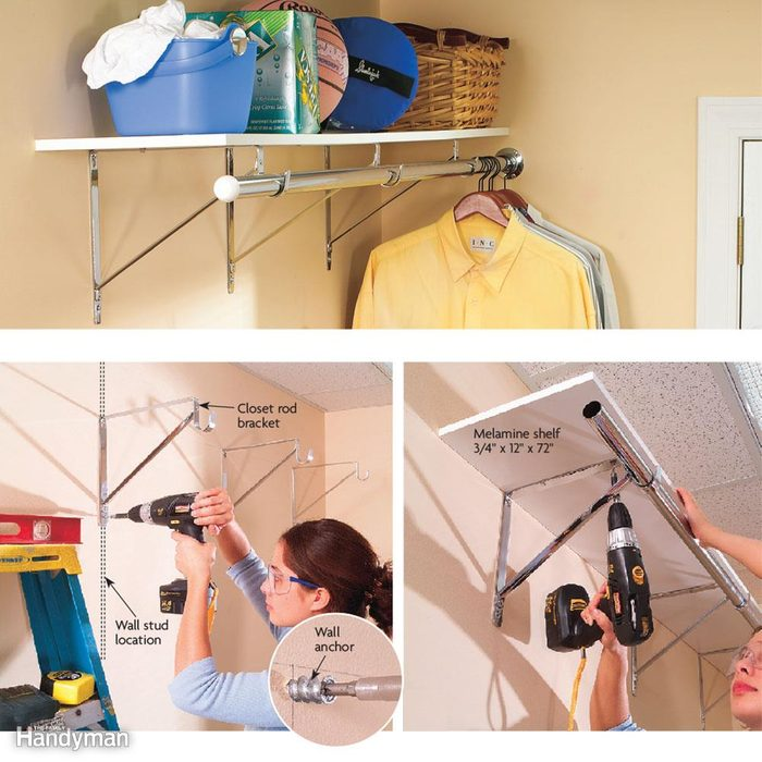 Install a Shelf and Clothes Rod