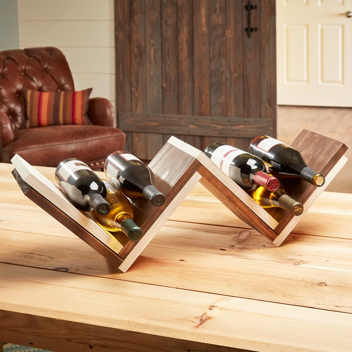 herringbone wine rack