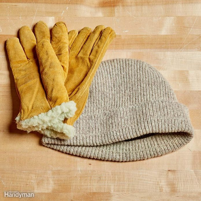 winter hat and glove