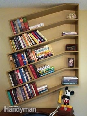Slanted Bookshelves The Family Handyman