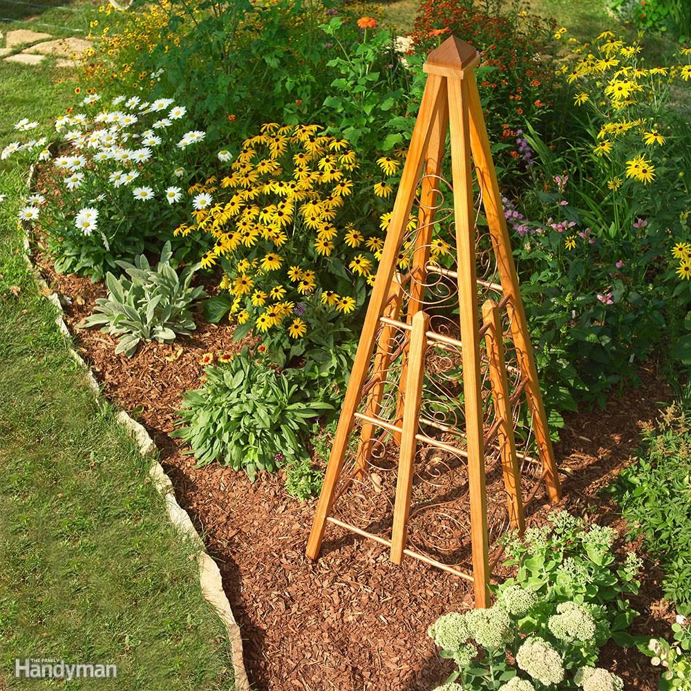 Mixed-Medium Garden Trellis
