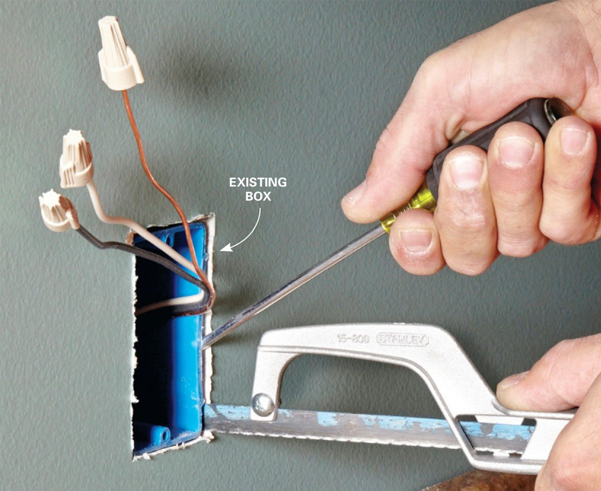 How To Install Electrical Outlets In The Kitchen Family Handyman Blank 3 Way Wiring Diagram Removing Old Box