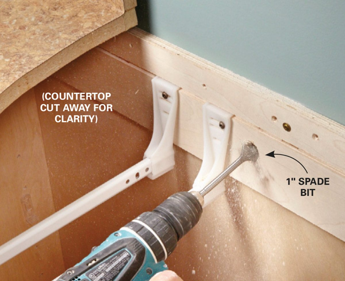 How To Install Electrical Outlets In The Kitchen Family Handyman After All Downstream Receptacles Have Been Installed Circuit Drill Holes For Outlet Cables