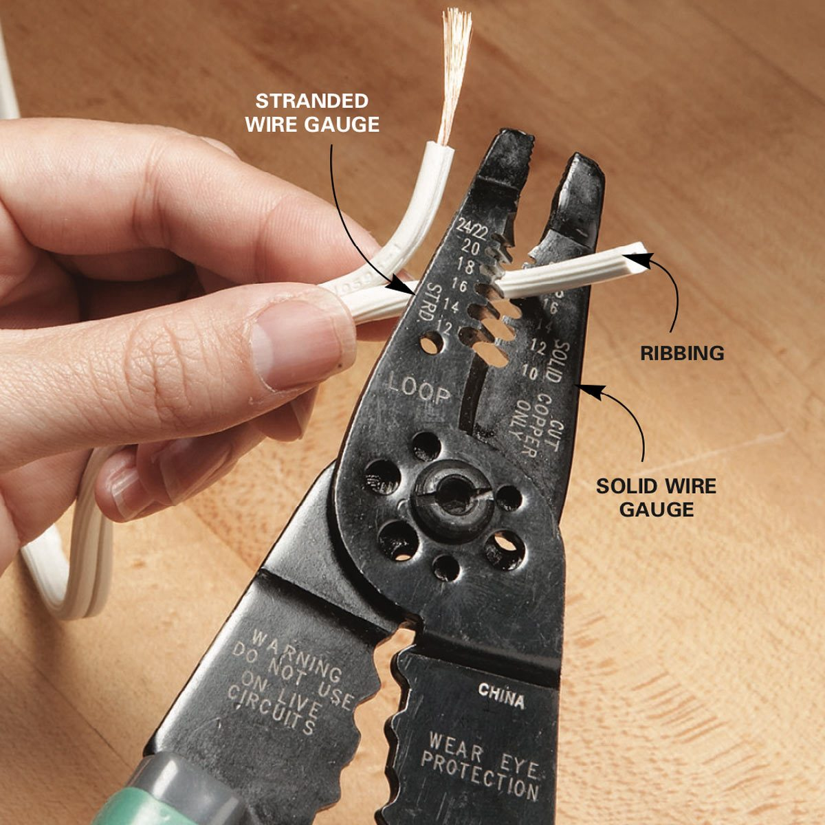 Fix A Lamp Cord Family Handyman The Wiring Ceiling Fan To Plug Strip Insulation Off Wire By Cutting And Pulling Through Stripper Prepare Cut End For New Or Pull Two