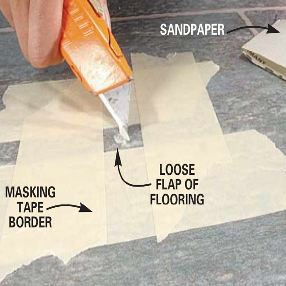 Repairing Vinyl Flooring Family Handyman