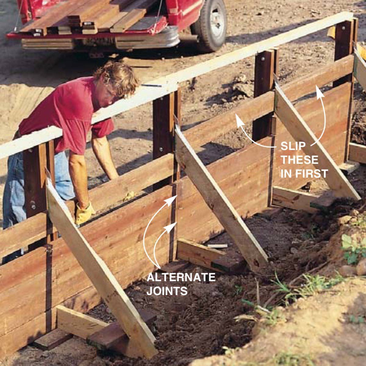 Wood Retaining Wall Ideas: How To Build A Treated Wood Retaining Wall