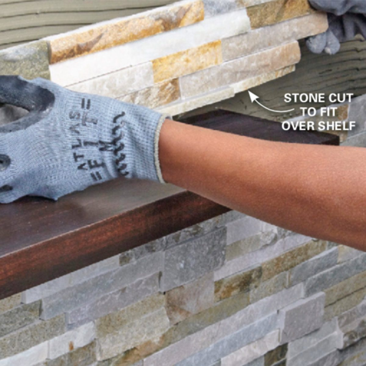 Create a Faux Stone Accent Wall Using Faux Stacked Stone