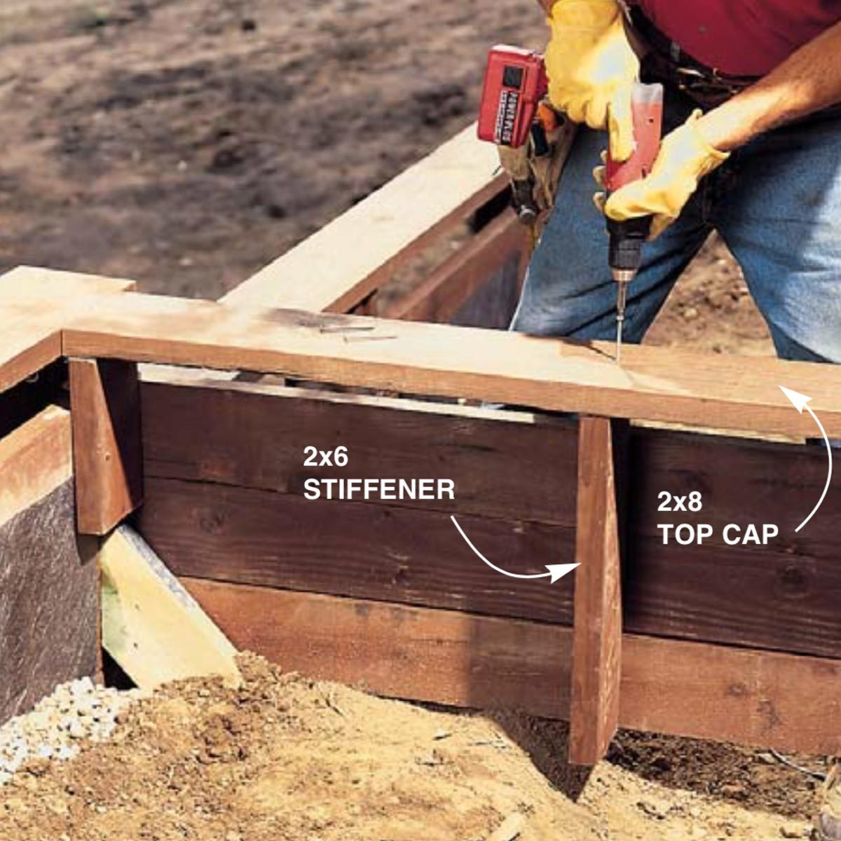 How to Build a Treated Wood Retaining Wall   Family Handyman