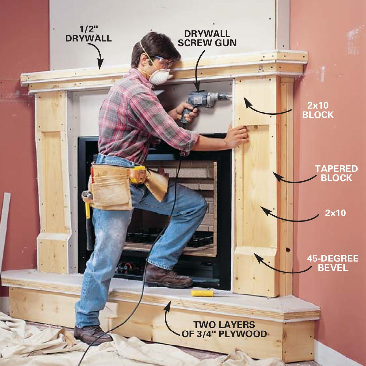 How to Install a Gas Fireplace: DIY Built In Gas Fireplace ...