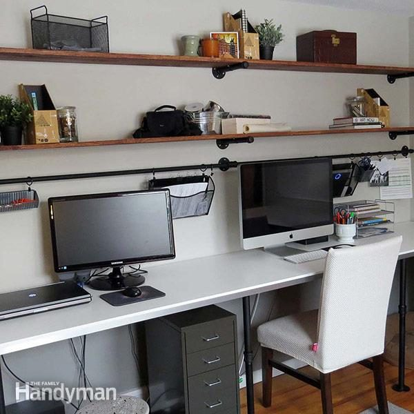 diy home office ideas. Office Desk Organization System Diy Home Ideas The Family Handyman