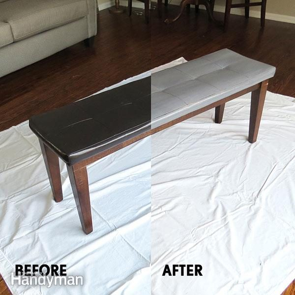 Sensational How To Paint Leather Furniture Family Handyman Gmtry Best Dining Table And Chair Ideas Images Gmtryco