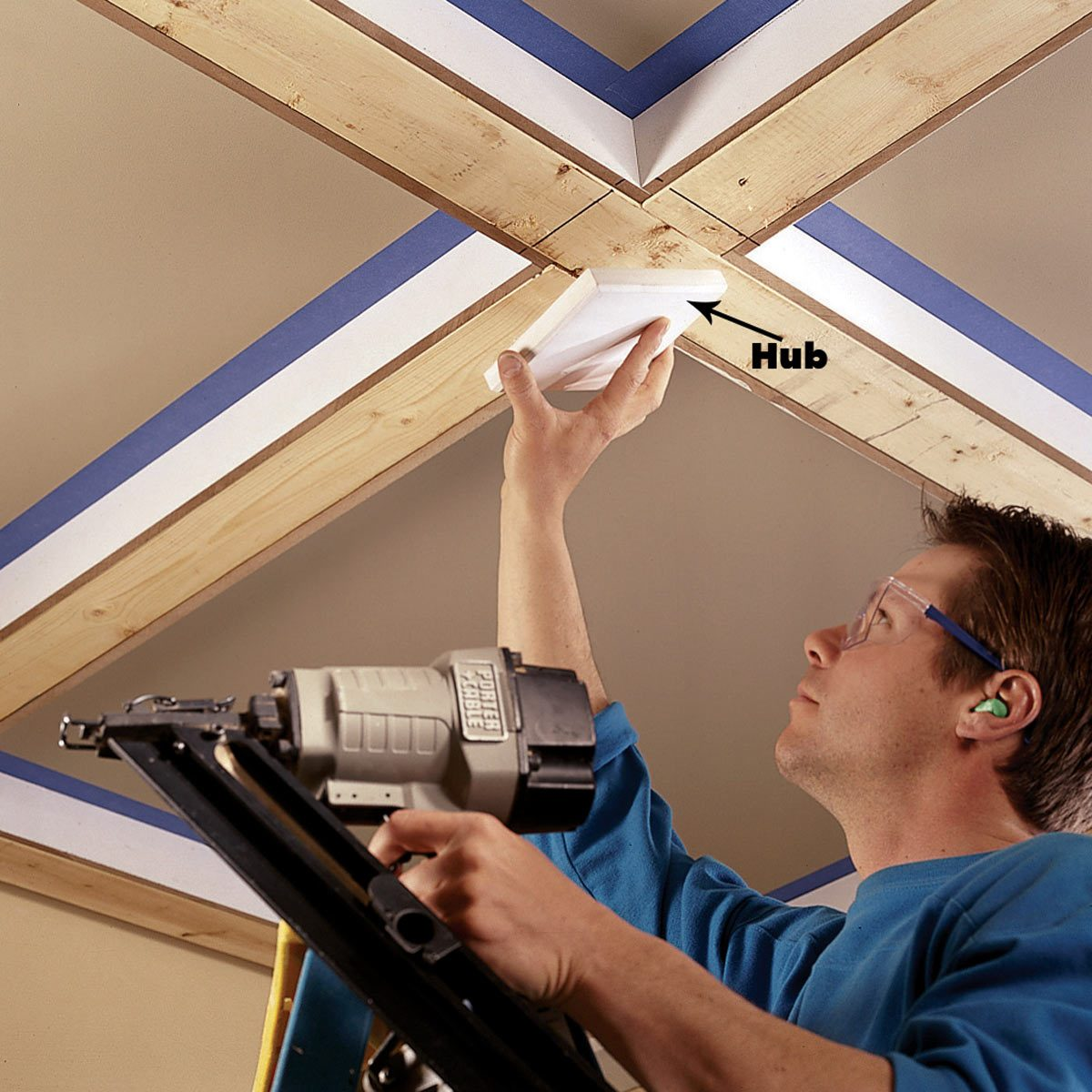 install the hubs ceiling joists