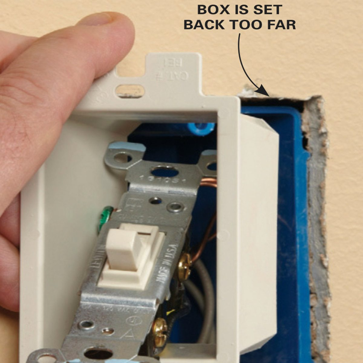 Outlet Insulation Stops Cold Air Coming Through Electrical Outlets Also Wiring A Light Switch And Gfci As Well Gfi Unscrew The Or Receptacle Twist It At An Angle Then Slide Box Extender Over Device Into Wall Remount Straighten