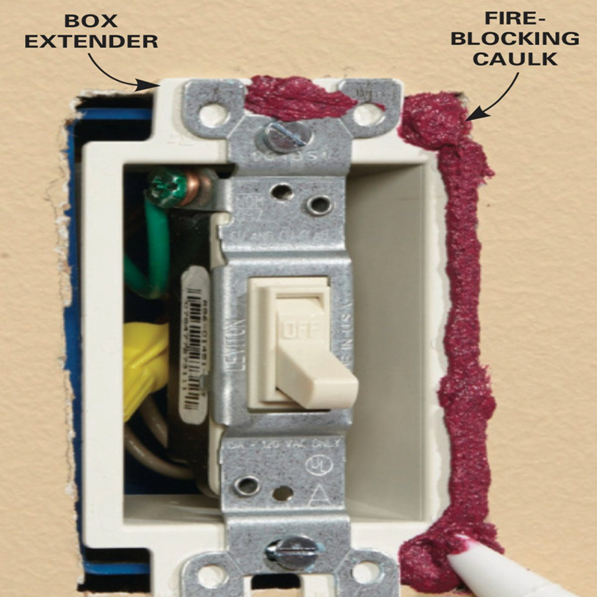 Outlet Insulation Stops Cold Air Coming Through Electrical Outlets Can Your Protect Against A House Fire Squirt Caulk Between The Box Extender And Wall Smooth Bead With Wet Finger