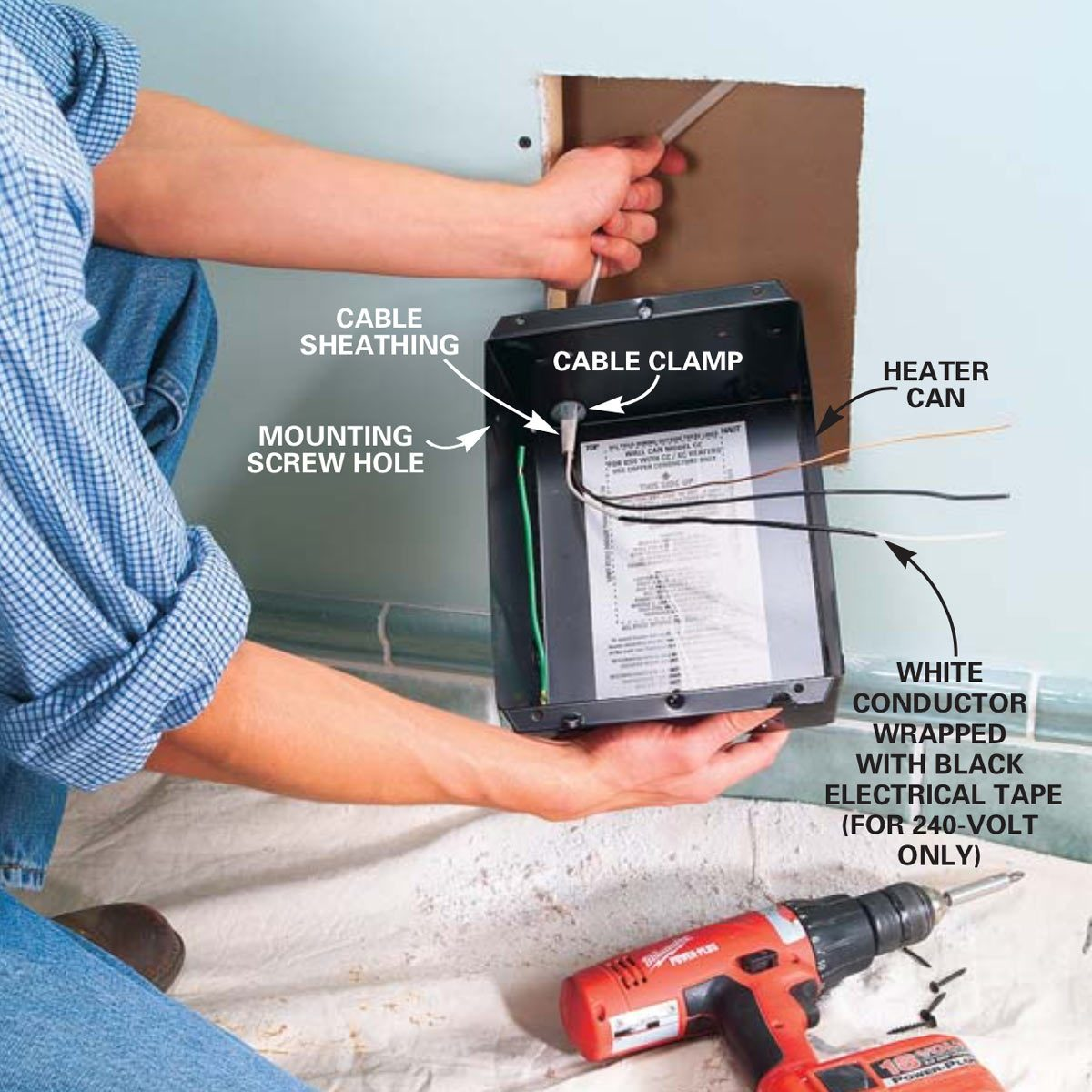 Installing Electric Heaters | Family Handyman on
