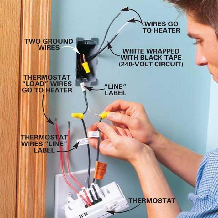 How To Install Electric Heaters Diy, Electric Baseboard Heater Wiring Diagram