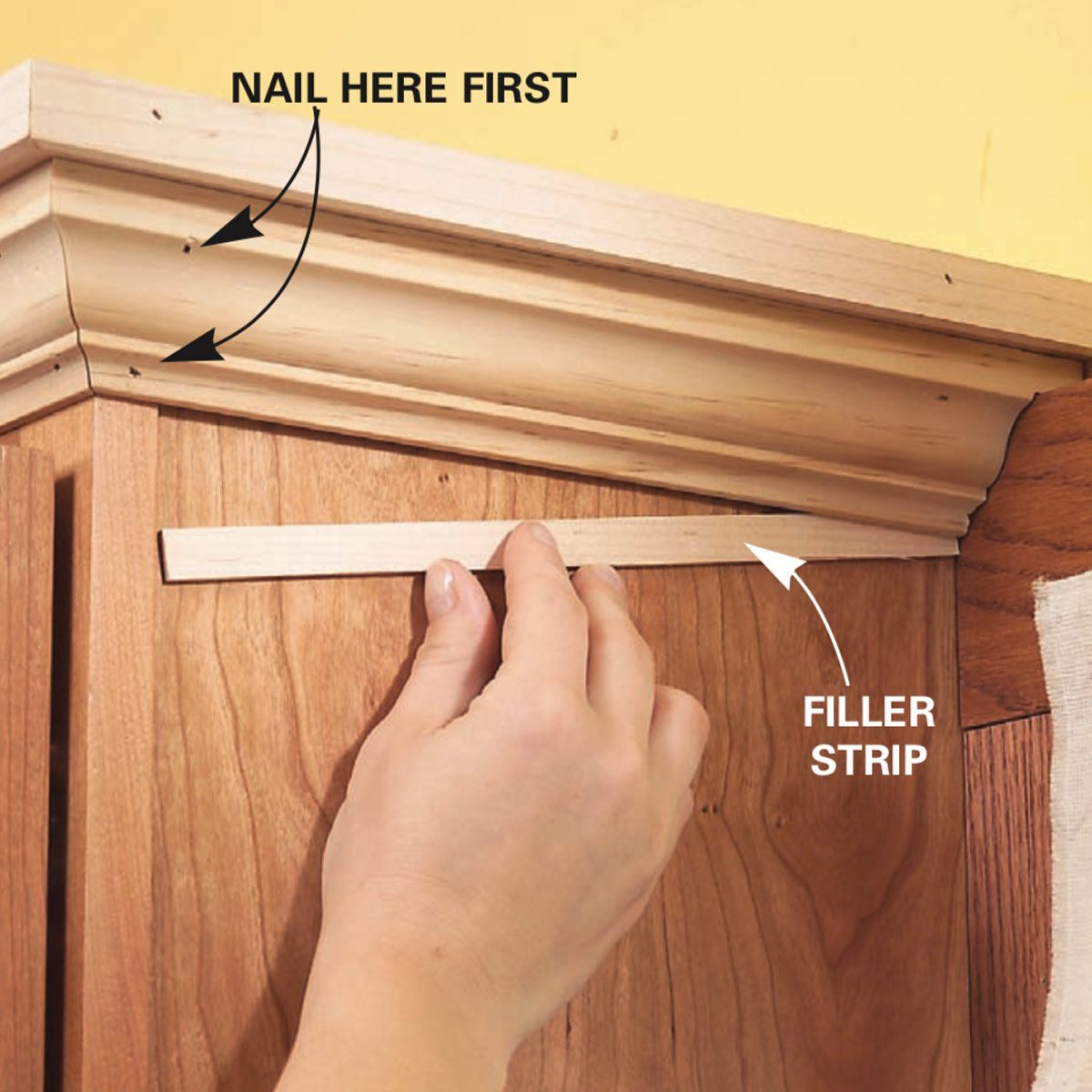 Add Molding To Kitchen Cabinets: How To Add Shelves Above Kitchen Cabinets