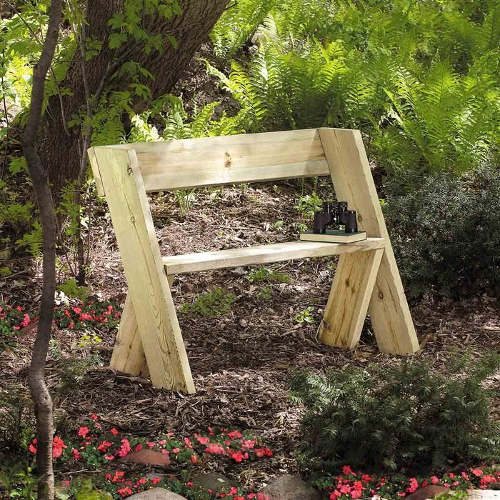 DIY wooden chair bench—small