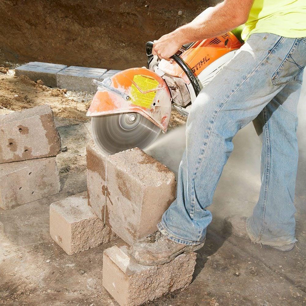 Cutting through stone blocks | Construction Pro Tips