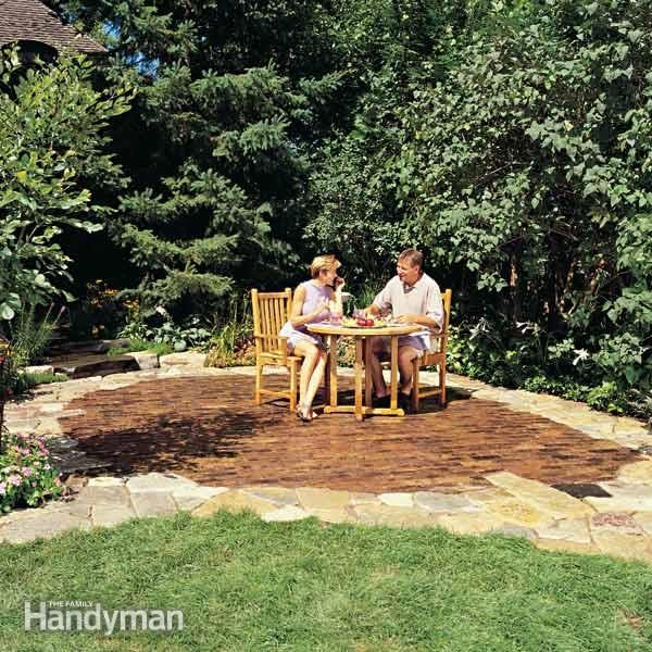 Build A Stone Patio Or Brick Patio The Family Handyman