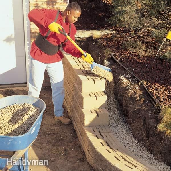 How to build a concrete retaining wall family handyman - How to build a garage cheaply steps ...