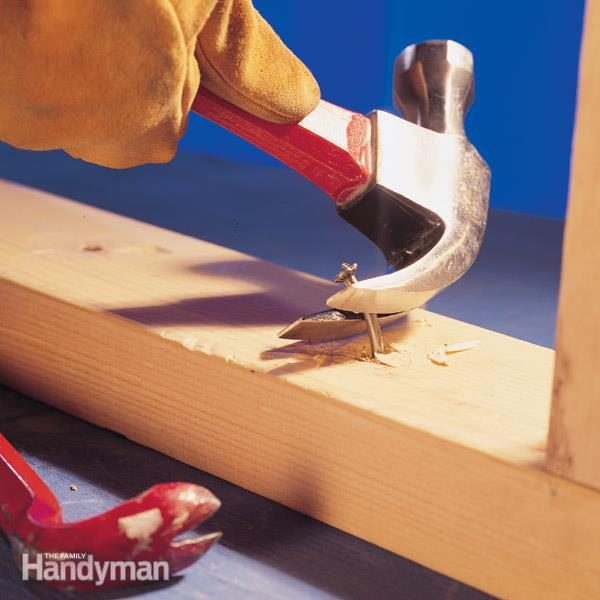 how to remove stuck nails hammer tips the family handyman. Black Bedroom Furniture Sets. Home Design Ideas