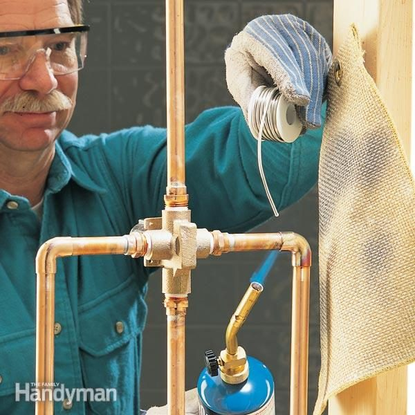 soldering copper pipe how to sweat copper pipe the family handyman 28504