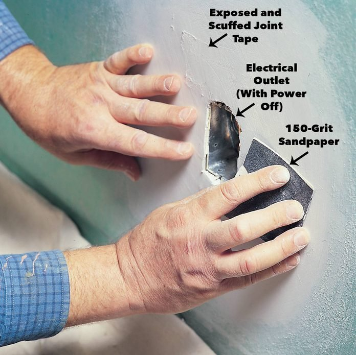 light touch drywall sanding