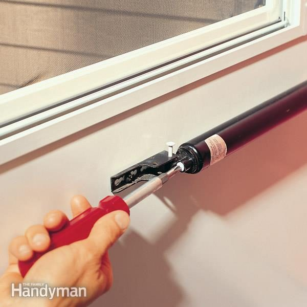 Adjusting A Storm Door Closer Or Screen Door Closer The
