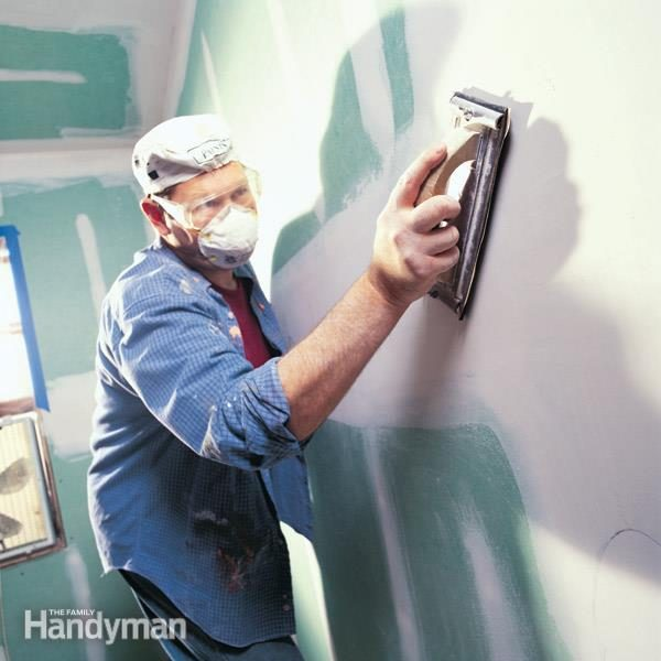How To Sand Drywall The Family Handyman