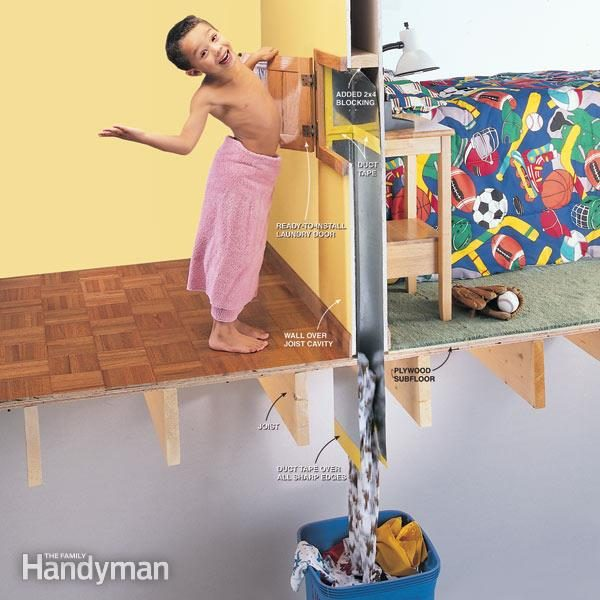 How To Install A Laundry Chute The Family Handyman