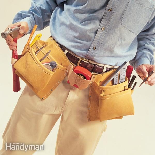 organizing a tool belt | the family handyman