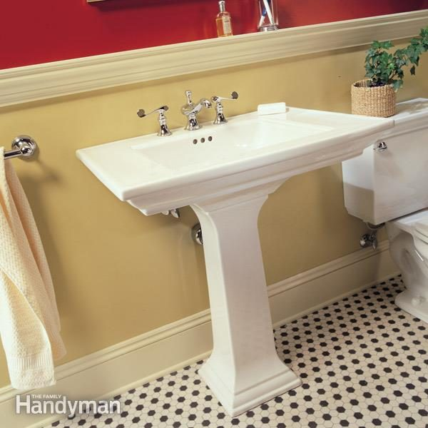 How To Plumb A Pedestal Sink Family Handyman