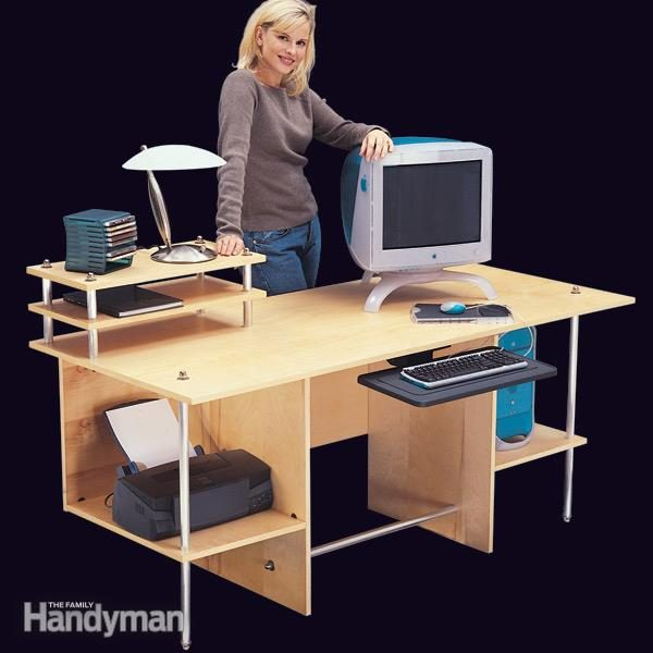 Simple Modern Computer Desk The Family Handyman