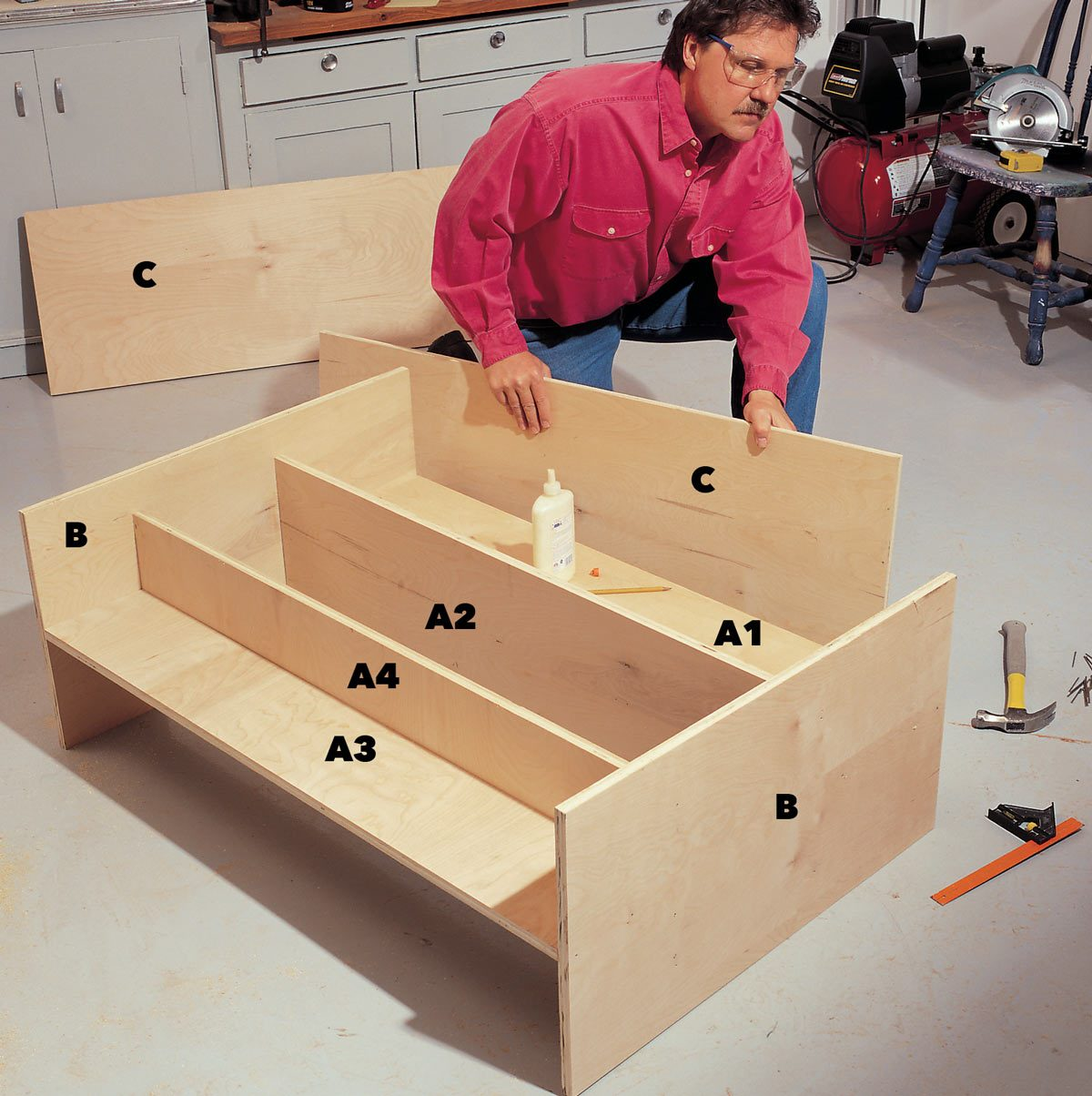 assemble folding workbench