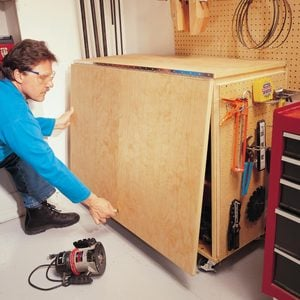 How to Build a Compact Folding Workbench with Storage