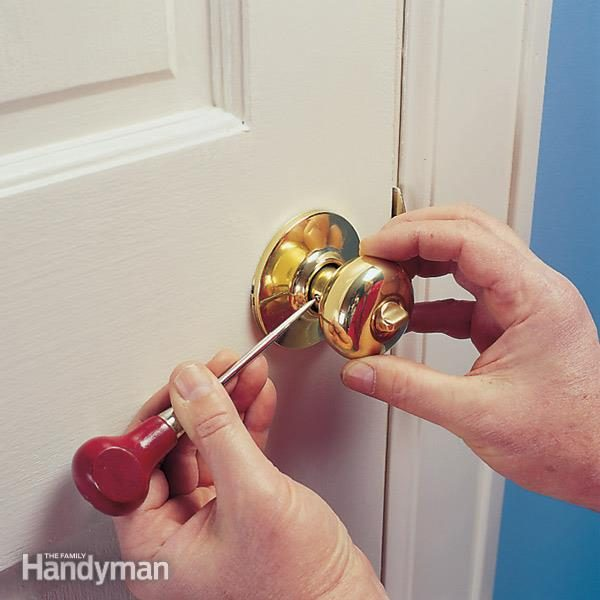 Repairing A Loose Door Handle Family Handyman The