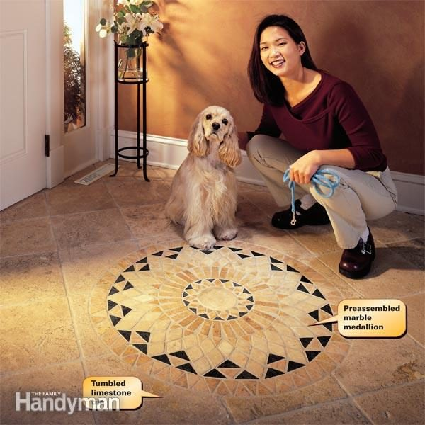 How To Install Marble Tile Floor A Tumbled Stone Entryway