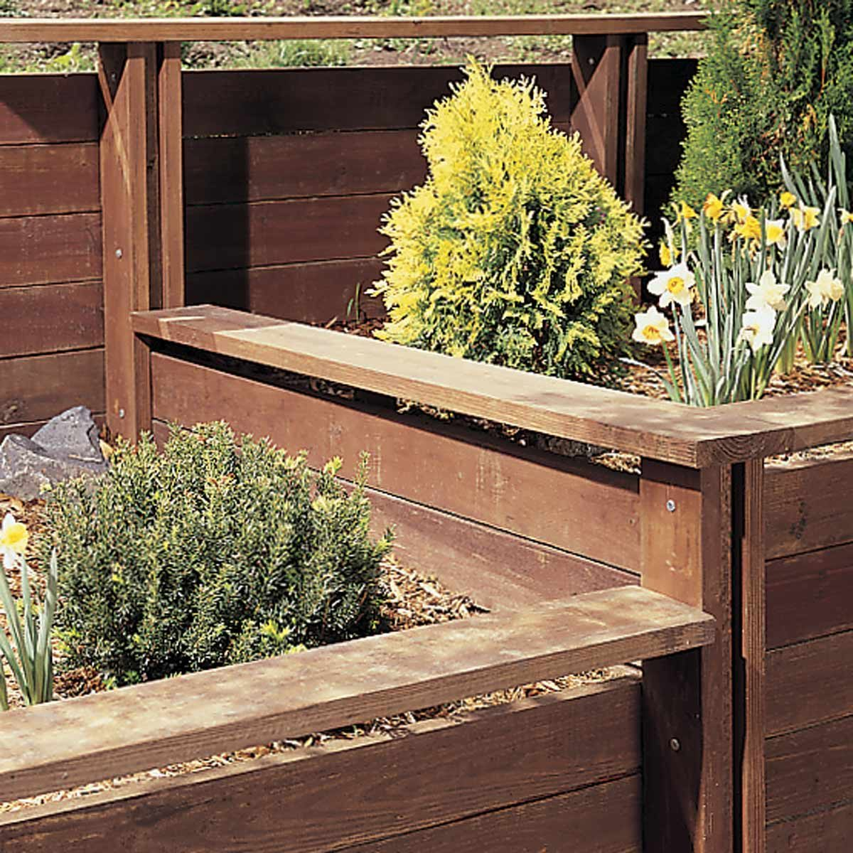 How to Build a Treated Wood Retaining Wall | Family Handyman