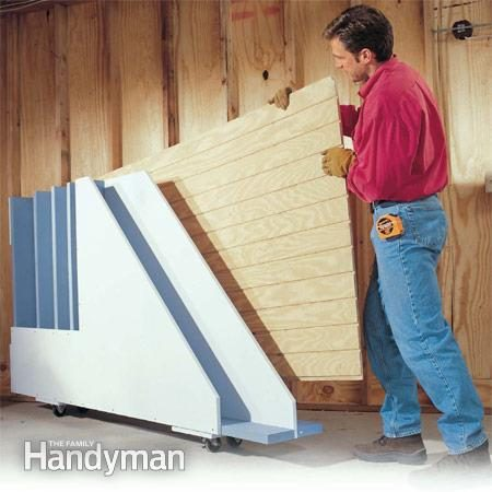 Exceptionnel A Handy Storage Rack That Lets You Get At The Plywood Sheet You Need!