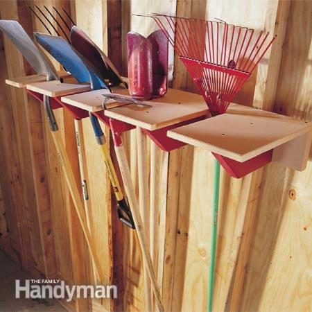Keep Your Long Handle Yard Tool Up And Out Of The Way