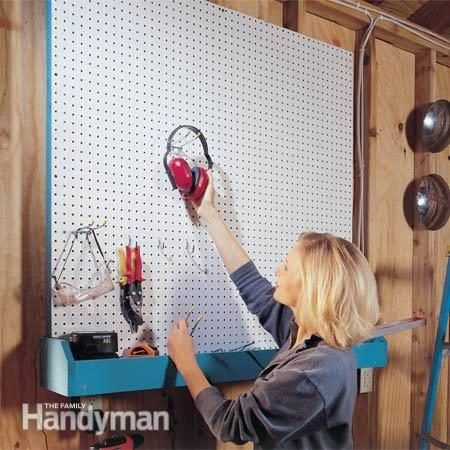Garage Storage Projects: DIY Pegboard Storage and Bin